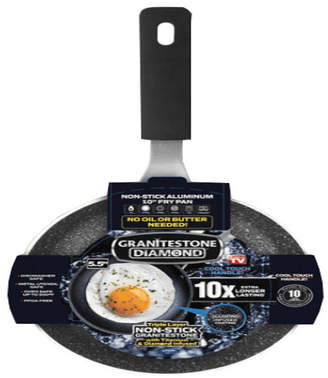 "GraniteStone Diamond 5.5"" Egg Pan"