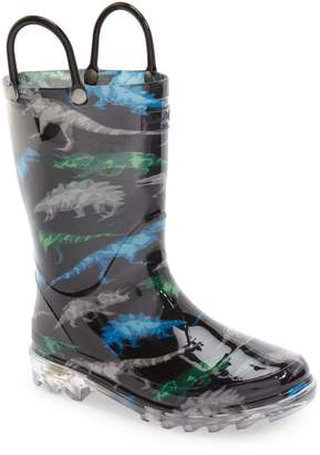 Western Chief Dinosaur Friends Light-Up Waterproof Rain Boot