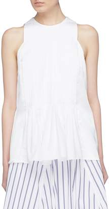 3.1 Phillip Lim Pleated poplin peplum sleeveless top