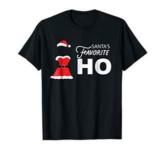 Santa's Favorite HO Sexy Mrs. Claus Naughty Women T-Shirt