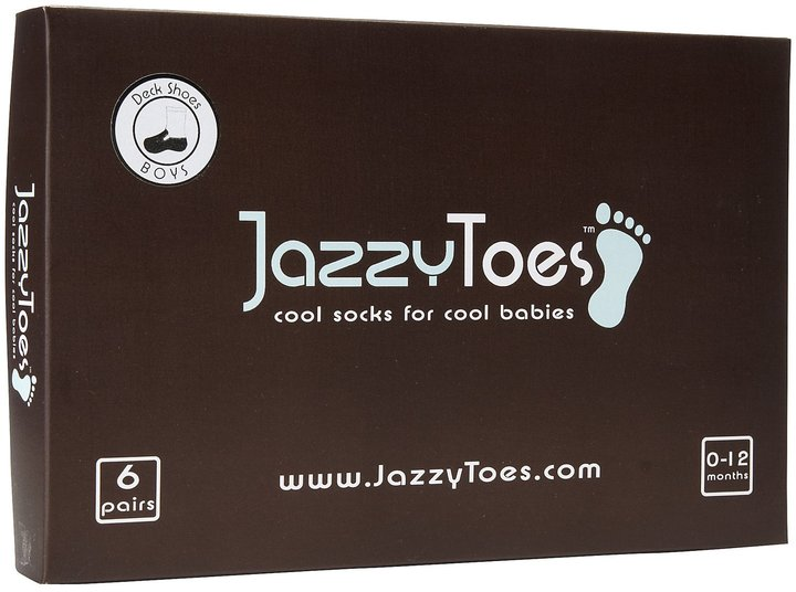 Jazzy Toes Deck Shoes Sock Set - Boys-0-12M
