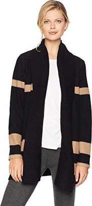 Calvin Klein Women's Colorblock Cardigan with Ribbed Trim