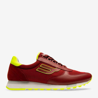 Galaxy Red, Men's Calf Leather Sneaker In Red