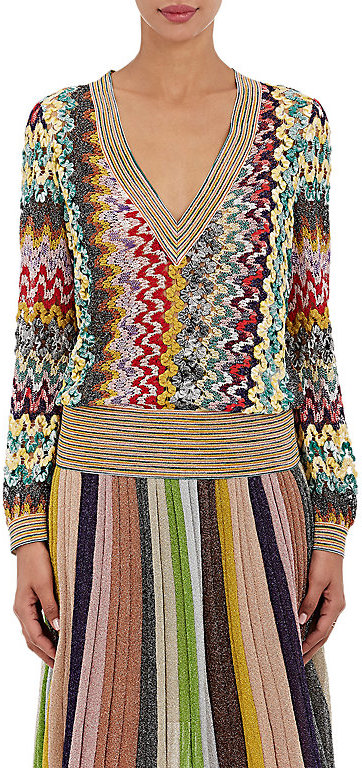 Missoni Missoni Women's Open-Knit V-Neck Sweater