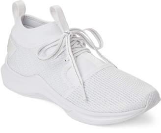 Puma White Phenom Low En Pointe Running Sneakers