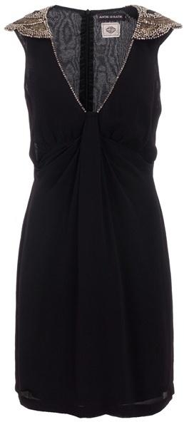 ANTIK BATIK - Embellished shoulder dress