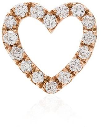 Loquet 18kt rose gold diamond heart charm