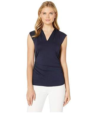 Vince Camuto Sleeveless Pleat V-Neck Top