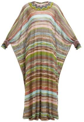 Missoni Striped Knitted Mesh Dress - Womens - Multi