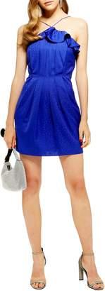 Topshop Frill Jacquard Minidress