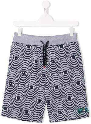 Kenzo all-over eye print shorts