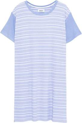 DKNY Striped Ribbed Jersey Nightdress