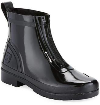 Tretorn Lina Zip Short Shiny Rubber Rain Boots
