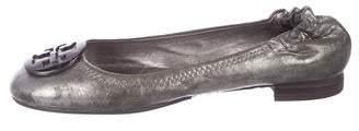 Tory Burch Metallic Leather Reva Flats
