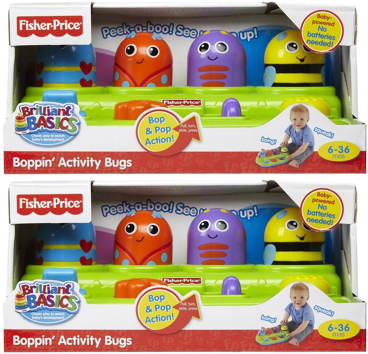 Fisher-Price Brilliant Basics Boppin Activity Bugs 2 pack