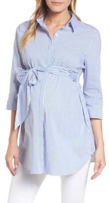 Isabella Oliver Dora Tie Front Maternity Shirt