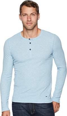 HUGO BOSS BOSS Orange Men's Trix Henley Slim Fit Long Sleeve t-Shirt