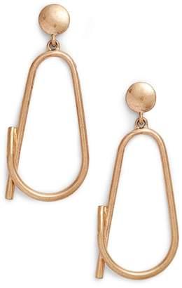 BP Sculptural Loop Drop Earrings