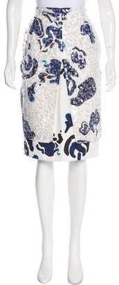 Michael Van Der Ham Embellished Brushstroke Skirt