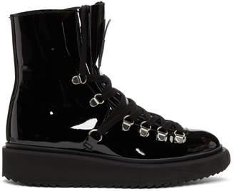 Kenzo Black Patent Alaska Boots