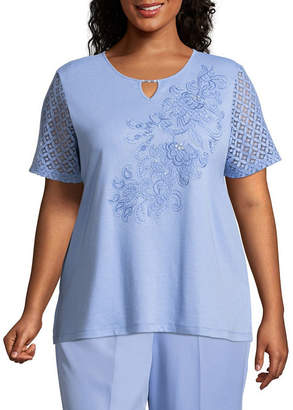Alfred Dunner Day Dreamer Lace Scroll Tee - Plus