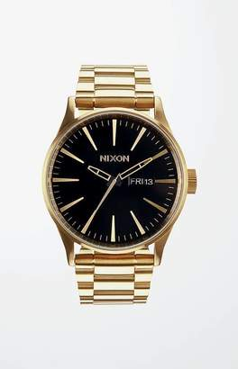 Nixon The Gold and Black Sentry Stainless Steel Watch