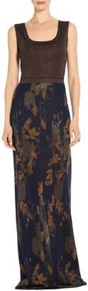 St. John Glitter Shine Jacquard Knit Gown
