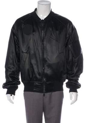 Juun.J 2016 Leather-Trimmed Bomber Jacket black 2016 Leather-Trimmed Bomber Jacket