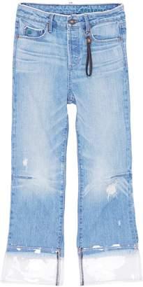 Tortoise Denim 'Bellatula' PVC cuff cropped jeans