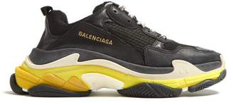 Balenciaga Triple S Low Top Trainers - Mens - Black Yellow