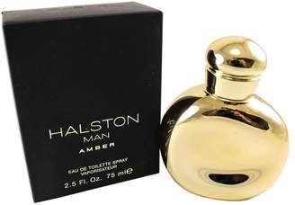 Halston Man Amber By Edt Spray 2.5 Oz