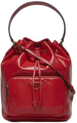 Prada Logo Jacquard Bucket Bag