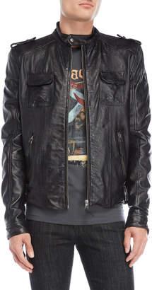 Bolongaro Trevor Black Leather Jacket