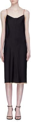 Alexander Wang 'Wash & Go' contrast trim satin slip dress