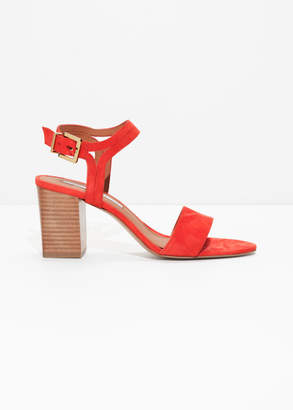 And other stories Suede Strappy Heeled Sandals