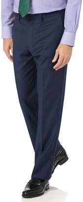 Charles Tyrwhitt Mid Blue Classic Fit Twill Business Suit Wool Pants Size W32 L30