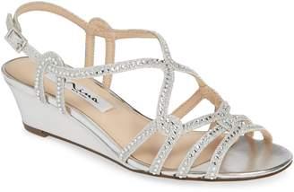 a965c03d8bc6 Nina Fynlee Crystal Embellished Wedge Sandal