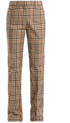 No.21 NO. 21 Mid-rise straight-leg checked cotton trousers