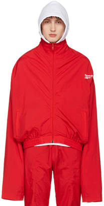 Vetements Red Reebok Edition Track Jacket