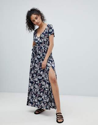 Rock & Religion Floral Maxi Dress With Slits