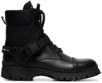 Prada Lace-up 30 leather combat boots