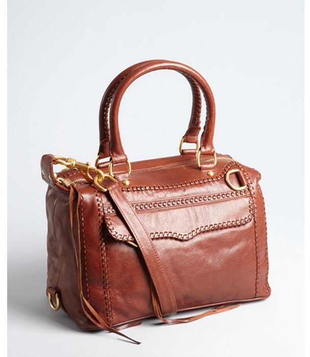 Rebecca Minkoff brown leather 'MAB Mini' convertible satchel