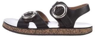 Joseph Leather Ankle Strap Sandals