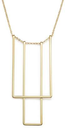 "Bloomingdale's 14K Yellow Gold Simple Square Bib Necklace, 17"" - 100% Exclusive"