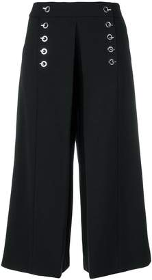Alexander Wang eyelet-trimmed cropped trousers