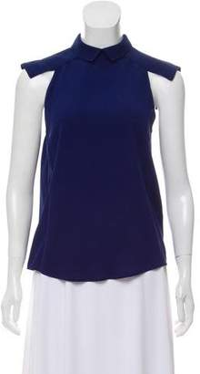 Dion Lee Silk Collared Top