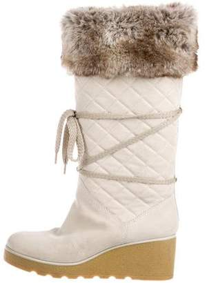 Marc Jacobs Suede Wedge Boots