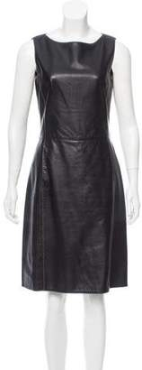 Charles Jourdan Leather Sleeveless Dress