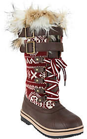 Muk Luks Allie Lace-Up Knit Snow Boots withThinsulate