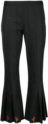 Marco De Vincenzo cropped flared trousers